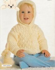 Baby Toddler Knitting Pattern copy 8 Ply DK Hooded Jacket Lovely Design