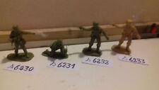 (18) soldat plastique airfix matchbox  commandos anglais par lot de 2 au choix