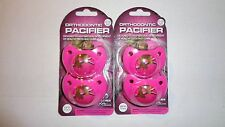 4 Hot Pink RealTree Orthodontic Camo/Camouflage Pacifiers 0-6 Months 2-2 Packs