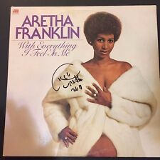 "ARETHA FRANKLIN ""With Everything I Feel In Me"" Signed Album Record Vinyl BECKETT"
