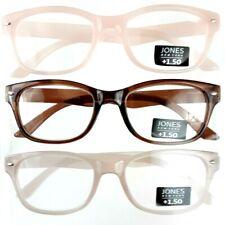 3 Pack Designer Readers +1.50 Jones New York Premium Reading Glasses Multi-Color