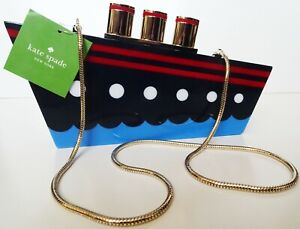 Kate Spade New York Expand Your Horizons Resin Ship Clutch Bag NWT