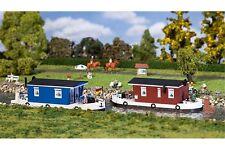 Faller 131008 HO 1/87 2 Péniches aménagées - 2 Houseboats