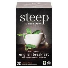 Bigelow Tea 17701 Steep Tea, English Breakfast, 1.6 Oz Tea Bag, 20/box