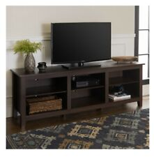 Manor Park Wood TV Media Storage Stand For TVs Up To 70in - espresso