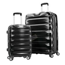 Samsonite Flylite DLX 2-piece Hardside Spinner Suitcase Luggage Set Black