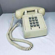 Vintage Premier 2500 Landline Telephone Push Button Phone Beige