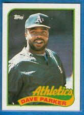 Dave Parker, 1989 Topps #475, Athletics