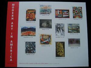 U.S. Postage Stamps - 2013 Modern Art in America Stamp Sheetlet - MNH