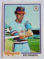 Bert Campaneris #260 Topps 1978 Baseball Card (Texas Rangers) VG