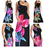 Ladies Dress Maxi Long Stretch Evening Party Black Summer Size 10 12 14 16 18