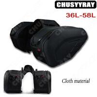 Motorcycle Waterproof Motorbike Pannier Storage Side Bags Saddle Bags Rain Cover