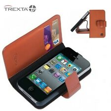 iPhone 4/4s Genuine Leather Wallet Case ROTATING FOLIO FLIP CASE COVER POUCH