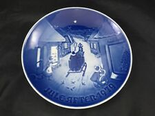 "Royal Copenhagen Christmas Plate Jule After 1979 7"" Blue Plate White Christmas"