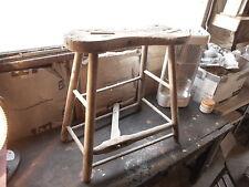 Farmhouse Decor Primitive Antique Saddle Maker Bench Horse Barn Tool-incomplete