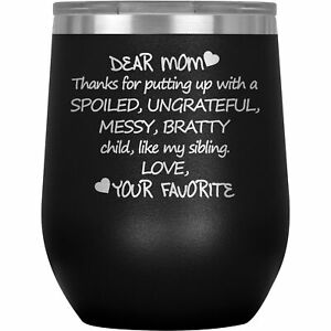 Mom Wine Tumbler Glass Mug Cup Funny Gift For Birthday Present Mothers Day V-89I
