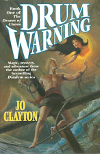 JO CLAYTON DRUM WARNING BOOK 1 DRUMS OF CHAOS 1996 HARDCOVER 1ST EDITION RARE