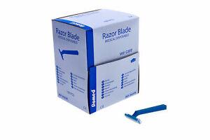 Romed Einmalrasierer Einwegrasierer einschneidig blau unsteril (100 Stück)