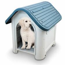 ANIMEL Hundehütte Hundehaus Outdoor Wetterfest Abwaschbar PVC 75x62x67