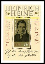 EBS East Germany DDR 1972 175th birthday Heinrich Heine Michel Block 37 MNH**