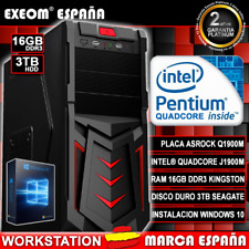 Ordenador Gaming Pc Sobremesa Intel Quad Core 9,6GHz 16GB RAM 3TB HD HDMI USB3.0