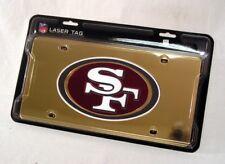 San Francisco 49ers NFL Mirror Look LASER License Plate