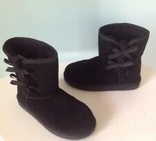 Koolabura by Ugg Victoria Short Girls Winter Boots Size Us 4 Black