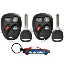 2 Replacement Remote Key Fob Set for 2001 2002 2003 2004 2005 Chevy Impala