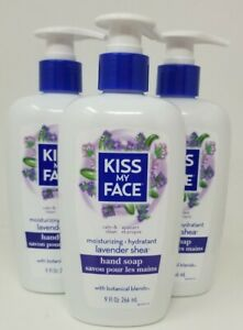 Kiss My Face - Hand Soap, Lavender Sheer 9 oz each Lot of 3
