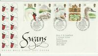 19 JANUARY 1993 SWANS ROYAL MAIL FIRST DAY COVER ABBOTSBURY SHS (l)