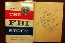 The FBI Story by Don Whitehead J  Edgar Hoover 1956 1st/5th Printing History HC