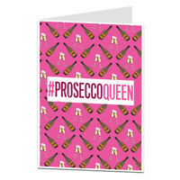 Prosecco Birthday Card For Her Women Best Friend Cards Pink Champagne Fizz