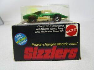 Vintage 1969 Mattel SIZZLER CAR *UP ROAR WITH ORIGINAL BOX* (GREEN) #5884