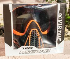 NEW Virtue Paintball VIO Ascend Mask Thermal PB Goggles Orange/Black Smoke Lens