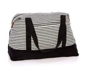 Thirty one Retro Metro Weekender travel gym Duffel bag 31 gift Twill Stripe