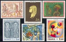 France 1976 Art/Paintings/Statue/Horse/Saints 6v n30869