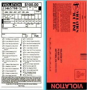 10 Phoney Fake Police Parking Tickets - Funny Rude Tickets Joke Gag Prank Set