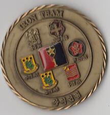 "Iron Team Korea 1st BDE 2 ID  Challenge coin 2"" DIA"