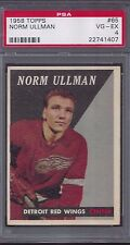 1958 Topps #65 Norm Ullman Detroit Red Wings PSA 4