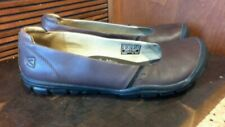KEEN ballet flat, slip-on, loafer, dark brown leather woman size 8.5/39, contour