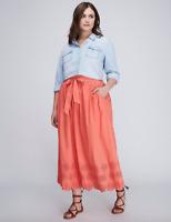 Lane Bryant Eyelet Skirt w/ Scalloped Hem Womens Plus 14/16 18/20 26/28 1x 2x 4x