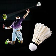 1/6Pc White Game Sports Training Duck Feather Shuttlecocks Badminton Balls
