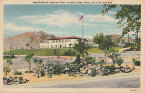 VINTAGE POSTCARD GOVERNMENT ADMINISTRATION BUILDING BOULDER NEVADA EARLY c.1950s