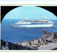MS Song of America ship Royal Caribbean Cruise Line Puerto Rico Vintage Postcard