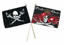 "12x18 12""x18"" Wholesale Combo Pirate Brethren Coast & Queen Pirate Stick Flag"