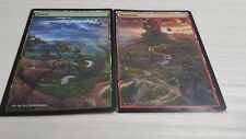 Forest/Mountain #11 Non-Foil Panorama Custom Altered Basic Lands MTG