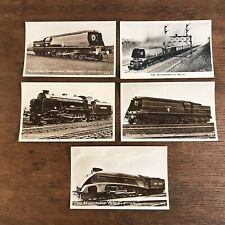 Vintage Rccp English Series Trains Locomotives Postcards Lot of 5 (E1)