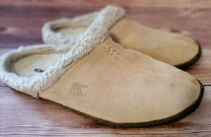 Sorel Womens Slippers Size 11 Nakiska Slide Beige