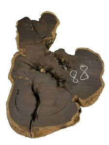 "Beautiful African Blackwood Burl Slab/Turning Wood Blank/Lathe 27""x20""x3"", #88"