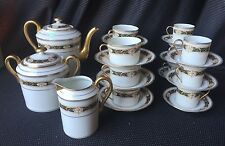 Service Á Cafe the Porcelain Limoges Charles Ahrenfeldt Style Empire Vintage